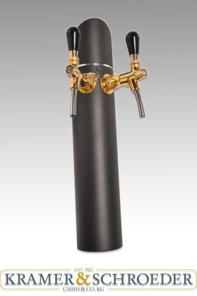 Black Tower 2-leitig komplett mit Zubehör Schanksäule Zapfsäule